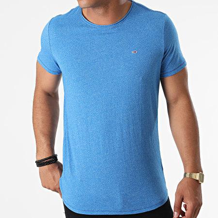 Tommy Jeans - Tee Shirt Oversize Slim Jaspe 9586 Bleu Chiné