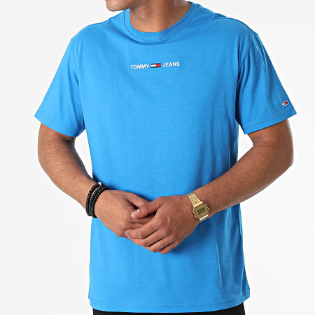 Tommy Jeans - Tee Shirt Small Text 9701 Bleu Clair