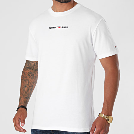 Tommy Jeans - Tee Shirt Small Text 9701 Blanc