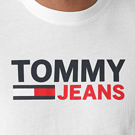 Tommy Jeans - Tee Shirt Corp Logo 0103 Blanc