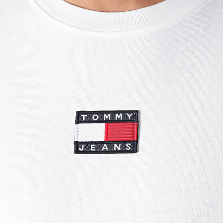 Tommy Jeans - Tee Shirt Tommy Badge 0925 Blanc