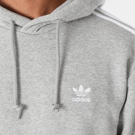 adidas - Sweat Capuche A Bandes 3 Stripes H06675 Gris Chiné