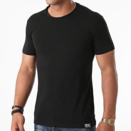Diesel - Lot De 3 Tee Shirts Randal 00SJ5L-0QAZY Noir Bleu Marine Vert Kaki
