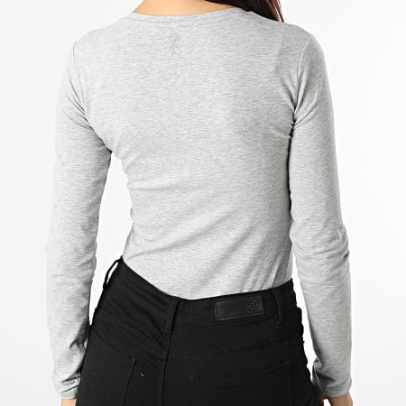 Guess - Tee Shirt Manches Longues Femme W1YI90 Gris Chiné