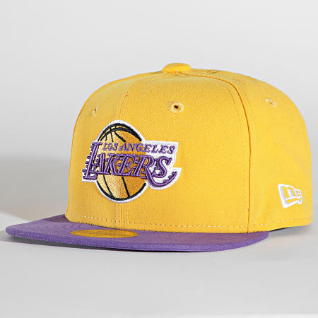 New Era  - Casquette Fitted 59Fifty NBA Basic 10861623 Los Angeles Lakers Jaune Violet