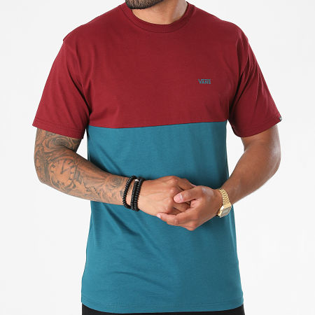 Vans - Tee Shirt Colorblock A3CZD Bleu Marine Bordeaux
