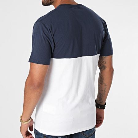 Vans - Tee Shirt Colorblock A3CZD Blanc Bleu Marine