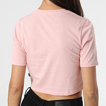 Vans - Tee Shirt Crop Femme Flying V Rose