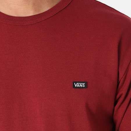 Vans - Tee Shirt Manches Longues Off The Wall A4TUR Bordeaux