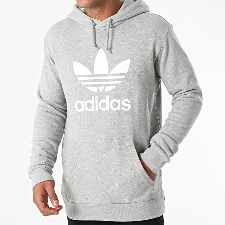 adidas - Sweat Capuche Trefoil H06669 Gris Chiné