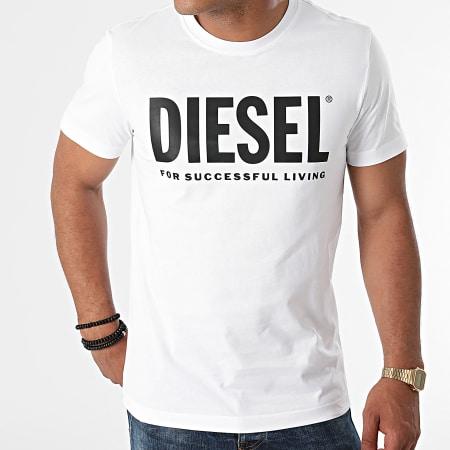 Diesel - Tee Shirt Diegos Ecologo A02877-0AAXJ Blanc
