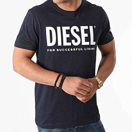 Diesel - Tee Shirt Diegos Ecologo A02877-0AAXJ Bleu Marine