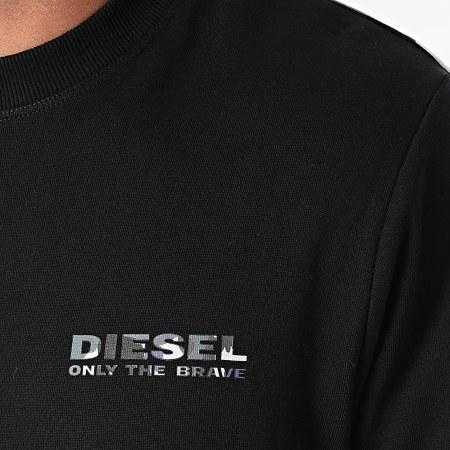 Diesel - Sweat Crewneck A Bandes BMOWT Willy 00S0ER-0QCAX Noir