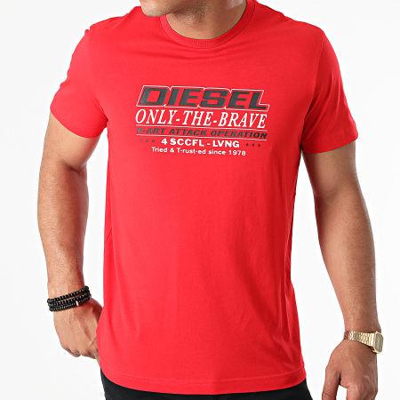Diesel - Tee Shirt Diegos K20 A02970-0GRAI Rouge