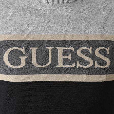 Guess - Pull M1YR57-Z2SA0 Noir Gris Chiné