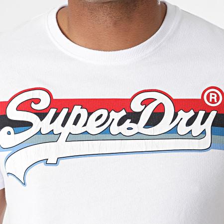 Superdry - Tee Shirt VL Cali Stripe M1011000A Blanc
