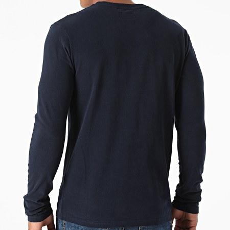 Superdry - Tee Shirt Manches Longues Vintage Logo Cali M6010455A Bleu Marine