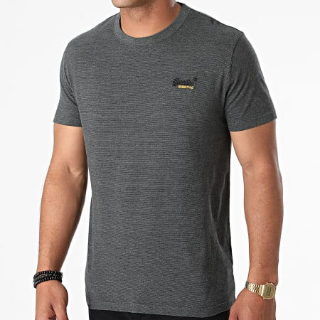 Superdry - Tee Shirt OL Vintage Embroidery M1010882A Gris Anthracite Chiné