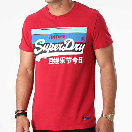 Superdry - Tee Shirt M1011000A Rouge