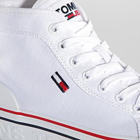 Tommy Jeans - Baskets Femme Mid Platform Vulcanized 1414 White