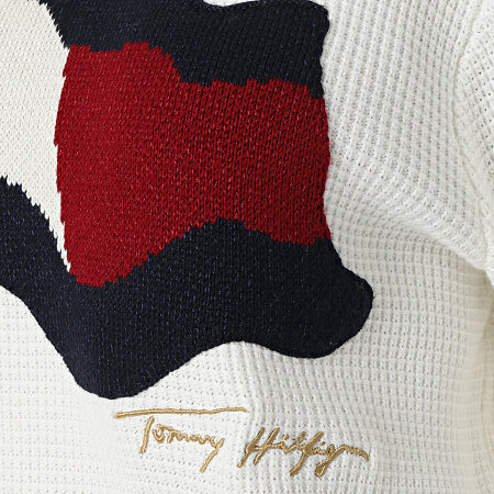 Tommy Hilfiger - Pull Femme Org Flag 0860 Blanc