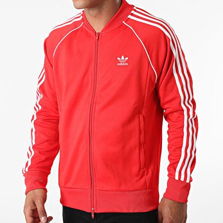 adidas - Veste Zippée A Bandes H06711 Rouge