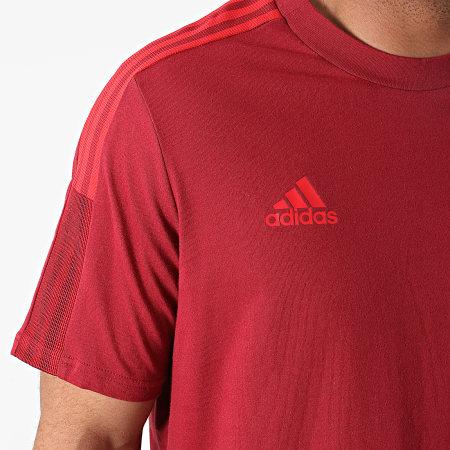adidas - Tee Shirt A Bandes FC Bayern GR0626 Bordeaux