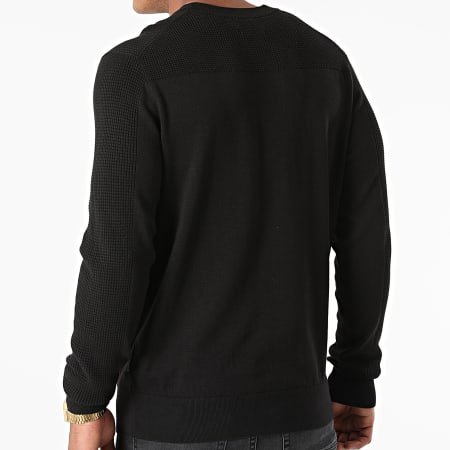 Calvin Klein - Pull Cotton Texture 7340 Noir