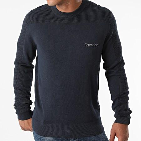 Calvin Klein - Pull Cotton Texture 7340 Bleu Marine