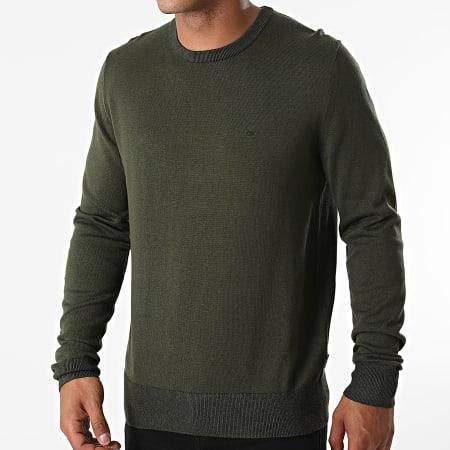 Calvin Klein - Pull Cotton Silk 7807 Vert Kaki