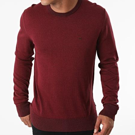 Calvin Klein - Pull Cotton Silk 7807 Bordeaux