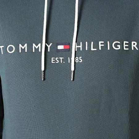 Tommy Hilfiger - Sweat Capuche Tommy Logo 1599 Gris Bleu