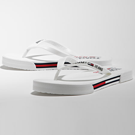 Tommy Jeans - Tongs Femme Essential Flat 1466 White
