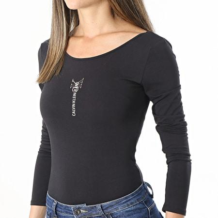 Calvin Klein Jeans - Body Femme Manches Longues Logo 6465 Noir