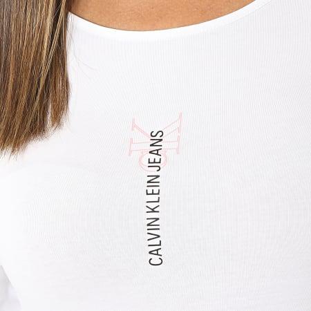 Calvin Klein Jeans - Body Femme Manches Longues Logo 6465 Blanc