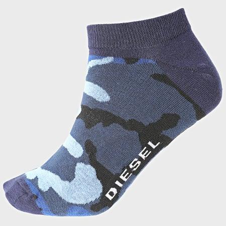 Diesel - Lot De 3 Paires De Chaussettes Basses 00SI8H-0HAZV Bleu Marine Camouflage