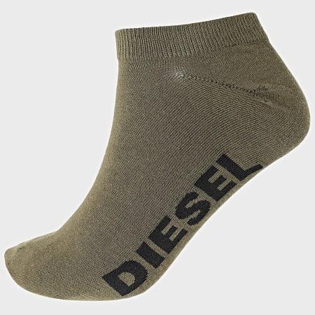 Diesel - Lot De 3 Paires De Chaussettes Basses 00SI8H-0JAXU Noir Vert Kaki
