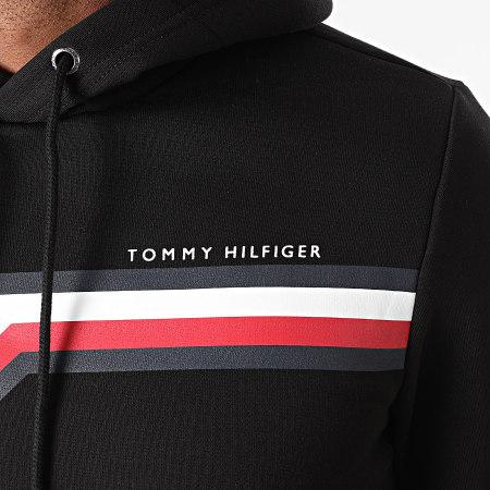 Tommy Hilfiger - Sweat Capuche Split Corp Stripe 1115 Noir