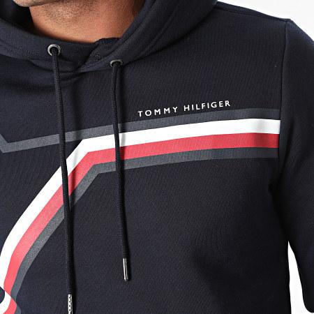 Tommy Hilfiger - Sweat Capuche Split Corp Stripe 1115 Bleu Marine