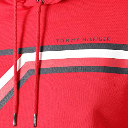 Tommy Hilfiger - Sweat Capuche Split Corp Stripe 1115 Rouge