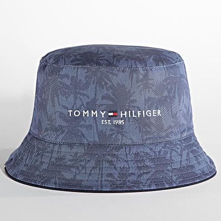 Tommy Hilfiger - Bob Réversible EStablished 7606 Blanc Bleu Floral