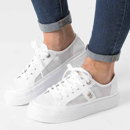 Tommy Hilfiger - Baskets Femme Mesh Vulcanized 5793 White