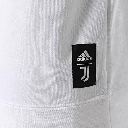 adidas - Sweat Crewneck A Bandes Juventus Graphic GR2920 Ecru Noir