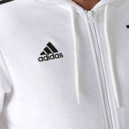 adidas - Sweat Zippé Capuche A Bandes Juventus 3 Stripes GR2930 Ecru