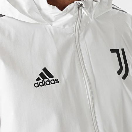 adidas - Veste Zippée Capuche A Bandes Juventus GR2943 Ecru