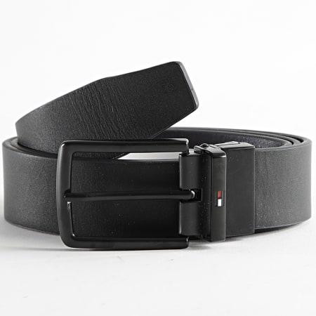 Tommy Hilfiger - Ceinture Réversible Denton Corporate 7646 Noir Tricolore