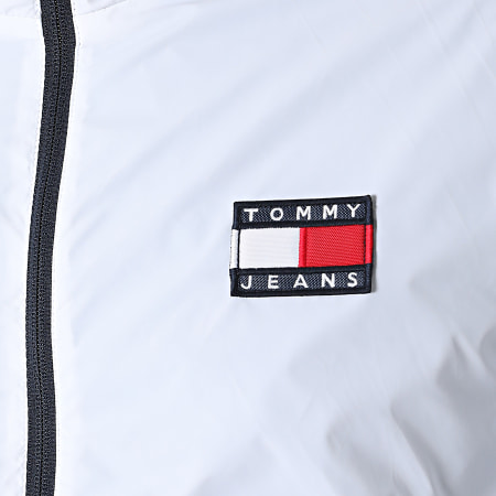 Tommy Jeans - Veste Zippée Capuche Nylon Yoke 0963 Blanc