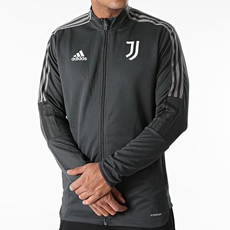 adidas - Ensemble De Survêtement Veste Short Jogging Juventus GR2966 Gris Anthracite Noir