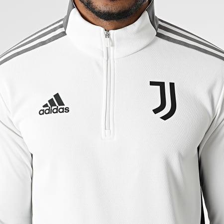 adidas - Sweat Col Zippé A Bandes Juventus GR2969 Blanc