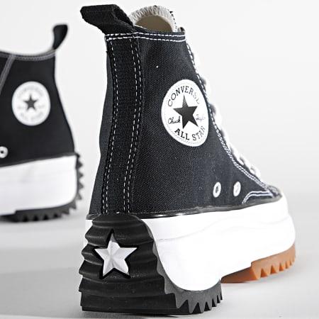 Converse - Baskets Femme Run Star Hike Hi 166800 Black White Gum
